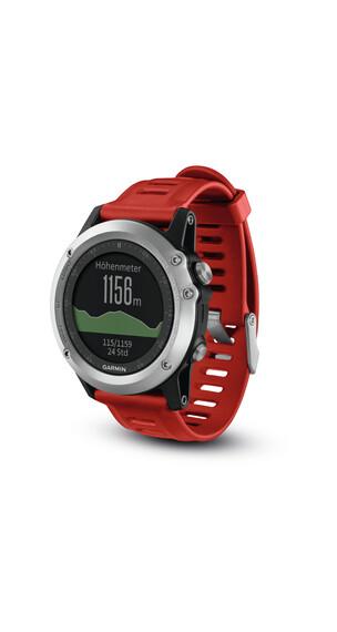 Garmin Fenix 3 GPS rannelaite , punainen/hopea